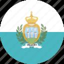 circle, gloss, flag, marino, san icon