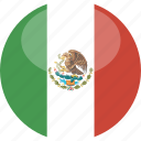 circle, flag, gloss, mexico icon