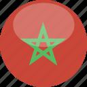 morocco, circle, gloss, flag