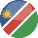 circle, flag, gloss, namibia icon