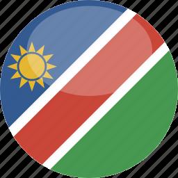 circle, flag, gloss, namibia icon