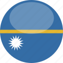 circle, flag, gloss, nauru icon