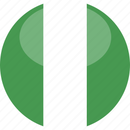 circle, flag, gloss, nigeria icon