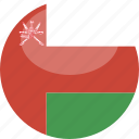 oman, circle, gloss, flag icon