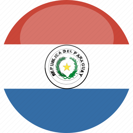 circle, flag, gloss, paraguay icon