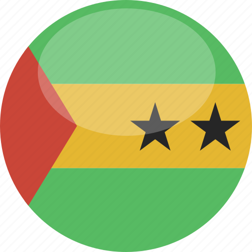 circle, flag, gloss, principe, sao, tome icon