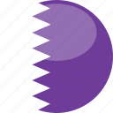 circle, gloss, flag, qatar