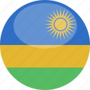 circle, flag, gloss, rwanda icon