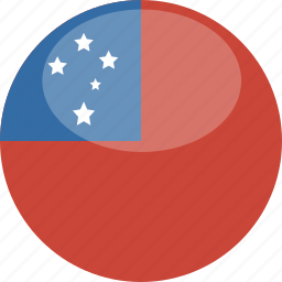 circle, flag, gloss, samoa icon