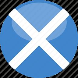 circle, flag, gloss, scotland icon