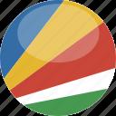 seychelles, circle, gloss, flag