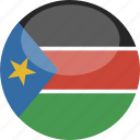 circle, flag, gloss, south, sudan icon