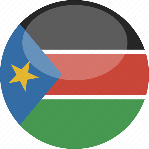 Sudan, circle, gloss, flag, south icon - Download on Iconfinder