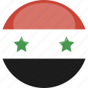 circle, flag, gloss, syria icon