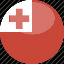 circle, flag, gloss, tonga icon