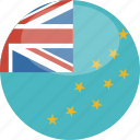 circle, flag, gloss, tuvalu icon