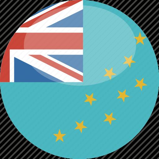 circle, flag, gloss, tuvalu icon