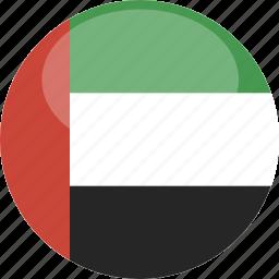 circle, flag, gloss, uae icon