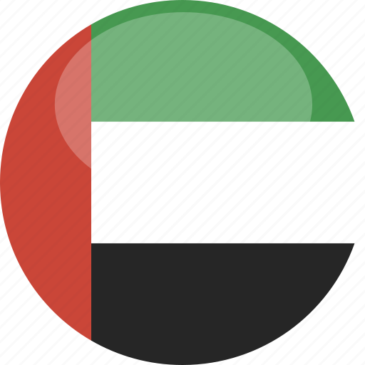 circle, flag, gloss, uae icon