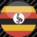 circle, gloss, flag, uganda