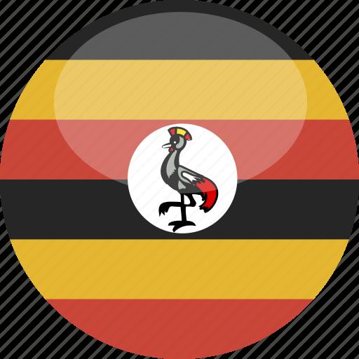 Circle, gloss, flag, uganda icon - Download on Iconfinder