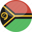 circle, flag, gloss, vanuatu icon