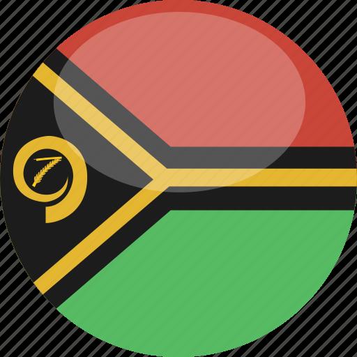 circle, flag, gloss, vanuatu icon