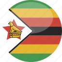 circle, flag, gloss, zimbabwe icon