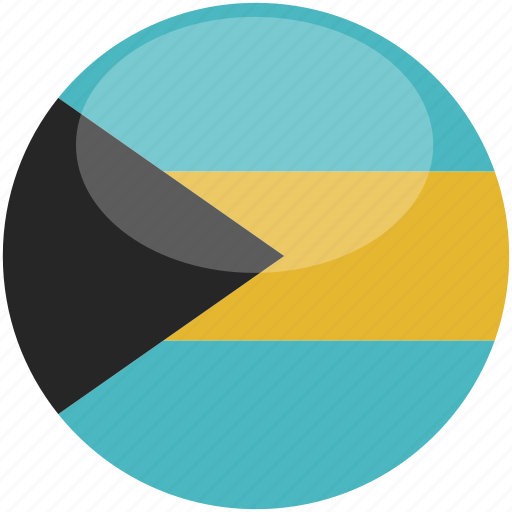 bahamas, circle, flag, gloss icon
