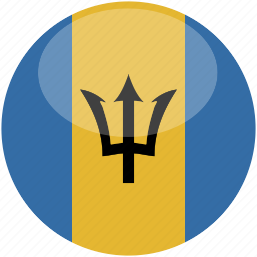 barbados, circle, flag, gloss icon