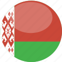 belarus, circle, flag, gloss icon