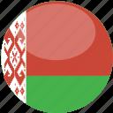 gloss, circle, belarus, flag icon