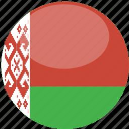 belarus, circle, flag, gloss icon