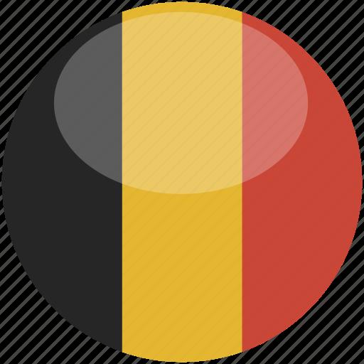 belgium, circle, flag, gloss icon