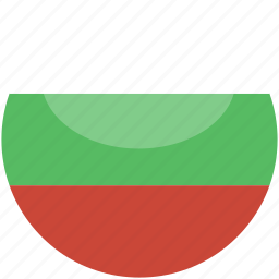bulgaria, circle, flag, gloss icon