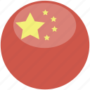 china, circle, flag, gloss icon