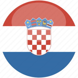 circle, croatia, flag, gloss icon