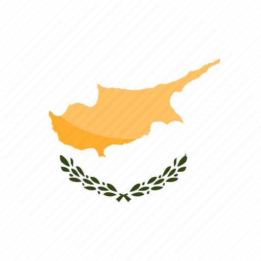 circle, cyprus, flag, gloss icon