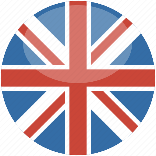 circle, england, flag, gloss, kingdom, uk, united icon