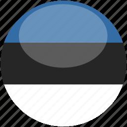 circle, estonia, flag, gloss icon