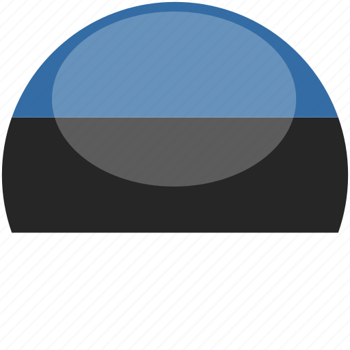 circle, estonia, flag, gloss icon