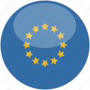 circle, eu, europe, flag, gloss icon