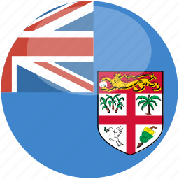 circle, fiji, flag, gloss icon