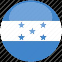 circle, flag, gloss, honduras icon