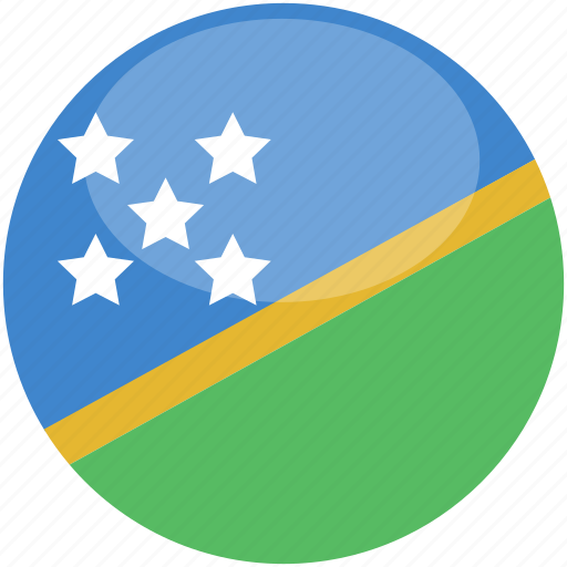 circle, flag, gloss, island, solomon icon