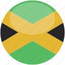 circle, flag, gloss, jamaica icon