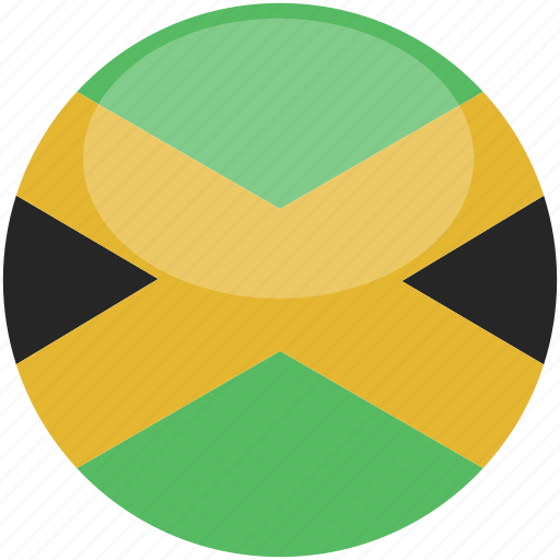 circle, flag, gloss, jamaica icon