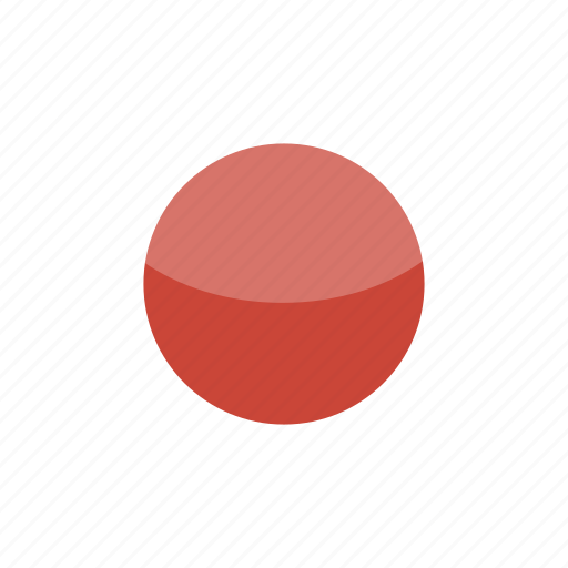 circle, flag, gloss, japan icon