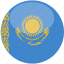 circle, flag, gloss, kazakhstan icon