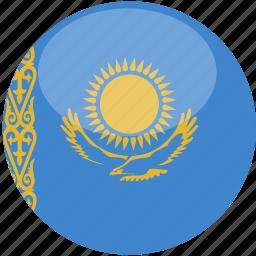 circle, flag, gloss, kazakhstan icon